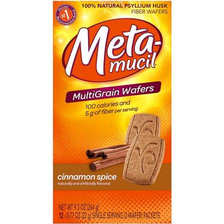 Metamucil Fiber Supplement Wafers, 24 ct, 9 3oz (Choose your Flavor)