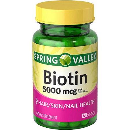 Spring Valley Biotin Softgels 5000 Mcg 120 Count Gmsa1